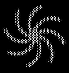 White pixel spiral galaxy icon vector