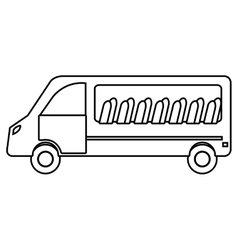 White van with chairs vehicle transport vector image