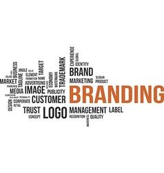 word cloud branding vector image