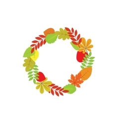 wreath autumn leaves vector image