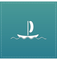 Yachts flat icon vector