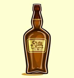 Bottle of rum vector
