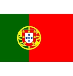 Flag of Portugal in correct proportions and colors vector image vector image