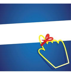 hand cursor with remember ribbon vector image vector image