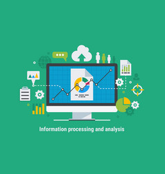information processing and analysis vector image vector image