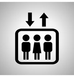 Lift or elevator symbol on a black background vector image vector image