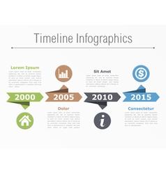 Timeline template vector