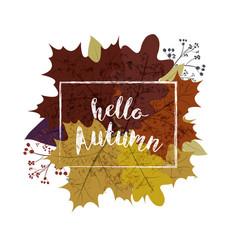 Autumn season banner greeting card with vector