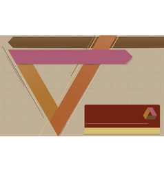 Modern geometric template vector image