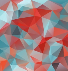 Red blue triangular pattern background vector