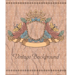 emblem on the vintage background vector image