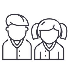 pupilsstudentsscholar line icon sign vector image