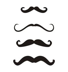Set of curly vintage retro gentleman mustaches vector image vector image