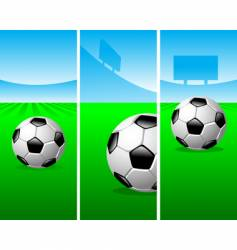 soccer vertical banners vector image