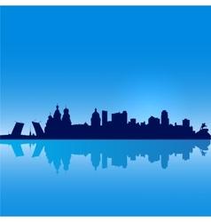 St Petersburg silhouette vector image vector image