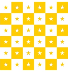Star Yellow White Chess Board Background vector image vector image