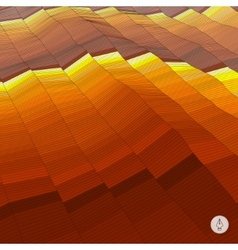 Abstract landscape background Mosaic vector image
