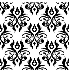 Abstract seamless floral pattern vector