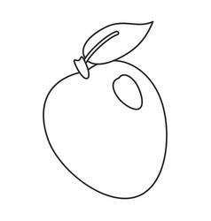 apple ripe fruit icon thin line vector image vector image