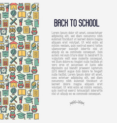 back to school concept contains seamless pattern vector image vector image