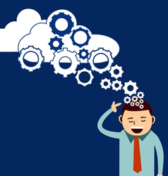 businessman think cloud technology vector image vector image