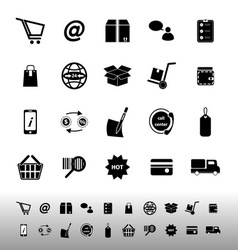 Ecommerce icons on white background vector image vector image