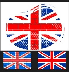 Shabby flag of Great Britain vector image vector image