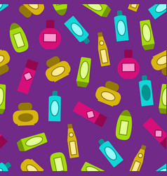 Shampoo pattern colorful seamless background vector