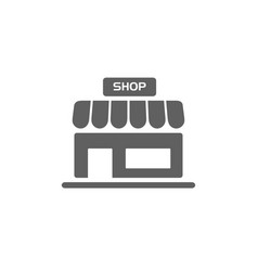 shop icon on a white background vector image
