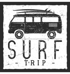 Surf trip concept Summer surfing retro vector image vector image