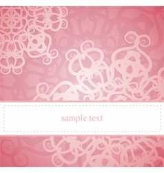 Sweet pink card or invitation for birthday party vector image vector image