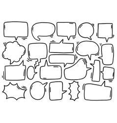 0124 hand drawn background set cute speech vector