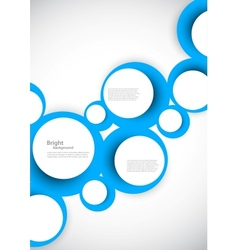 Abstract background with blue circles vector