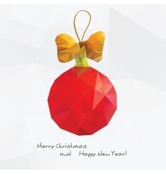 Abstract Christmas ball with vector image