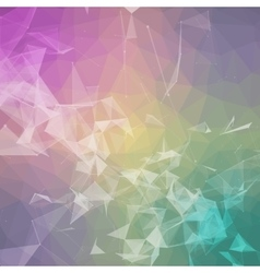 Abstract colorful triangulated geometric vector