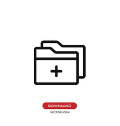 add folder icon vector image