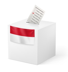 Ballot box with voicing paper Monaco vector