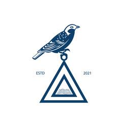 Bird and triangle logo design vector