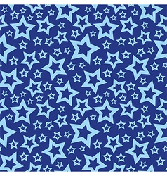 Blue stars seamless texture vector image