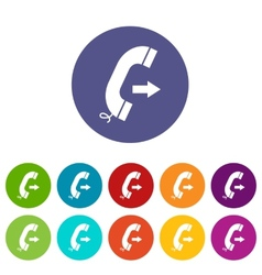 Call flat icon vector