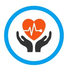 Cardiology Rounded Icon vector image