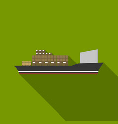 Cargo ship icon of for web and vector