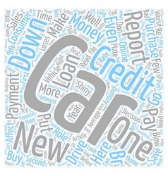 Cars and Credit Reports text background wordcloud vector