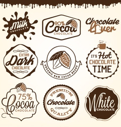 Chocolate Badges and Design Elements vector image