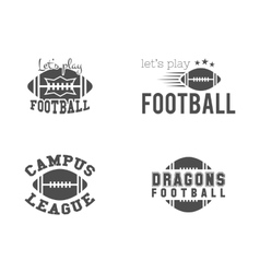 College american football team championship vector image