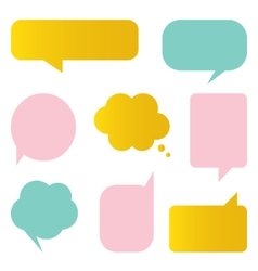 Cute colorful speech bubbles set vector image