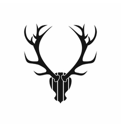 Deer antler icon simple style vector image
