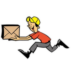 Delivery man vector