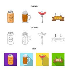 Design of pub and bar logo set of pub and vector