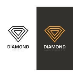 Diamond logo jewel icon vector image